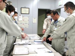 安全衛生教育 危険予知トレーニングと指差唱和(つくば地区)