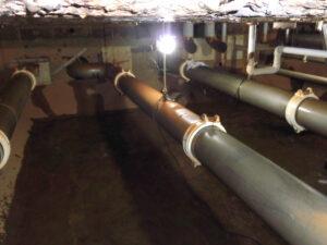 空調設備水槽内の清掃